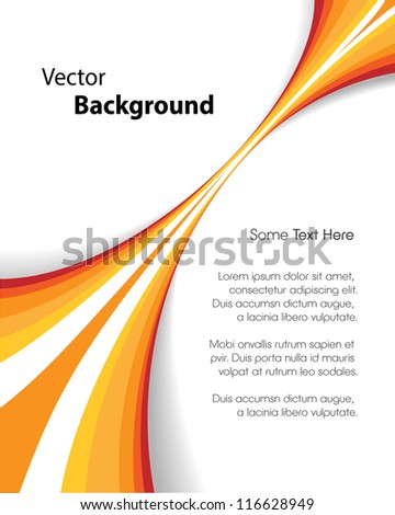 This image represents an abstract brochure background or cover./Orange Brochure Background - stock vector