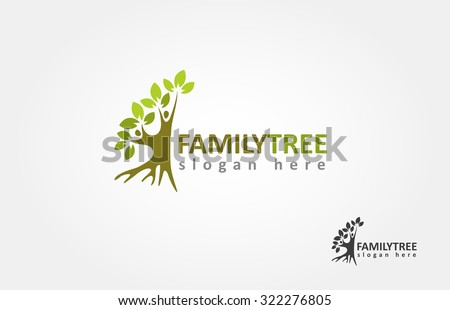This is a half tree, that symbolize a togetherness, growth, and happiness. - stock vector