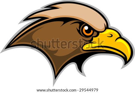 This is a Hawk Mascot Logo - stock vector
