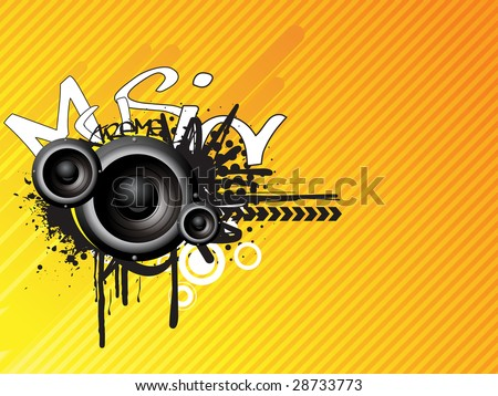 This is a music abstract design vector - stock vector