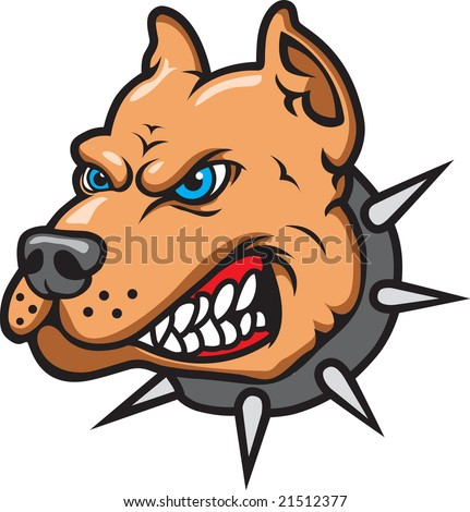 This is a Pit Bull Mascot - stock vector