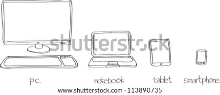 This is a vector file of Device.This file is sketch on my imagination - stock vector