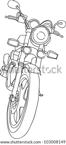 This is a vector file of Motorcycle sketch - stock vector