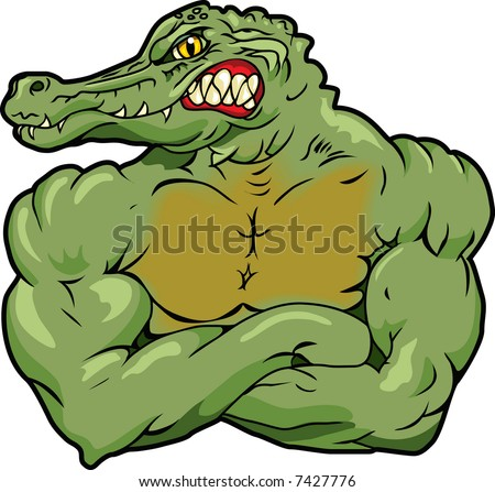 This is an Alligator and he's a mean one. - stock vector
