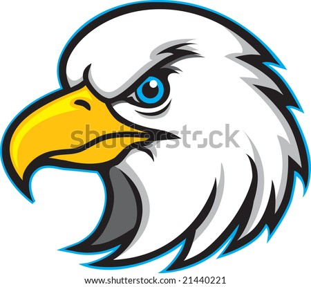 This is an Eagle Head Mascot - stock vector