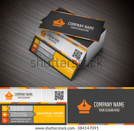 This creative business card companies personal stock vector this is creative business card for companies or personal purpose vector illustration colourmoves