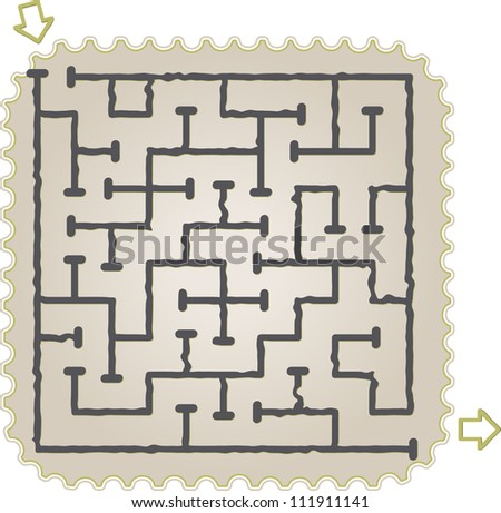 This is illustration of abstract maze - stock vector