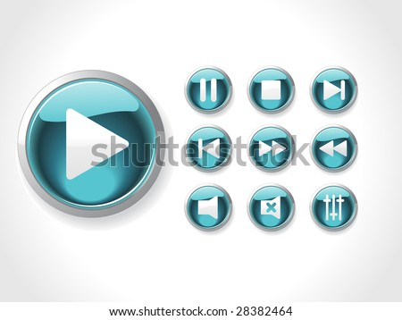This is media set icons vector - stock vector