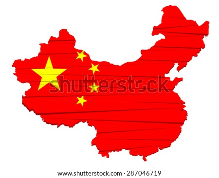 This is modern map china - stock vector