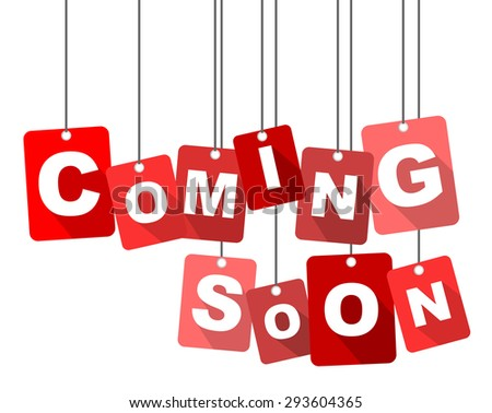 This is tag coming soon - stock vector