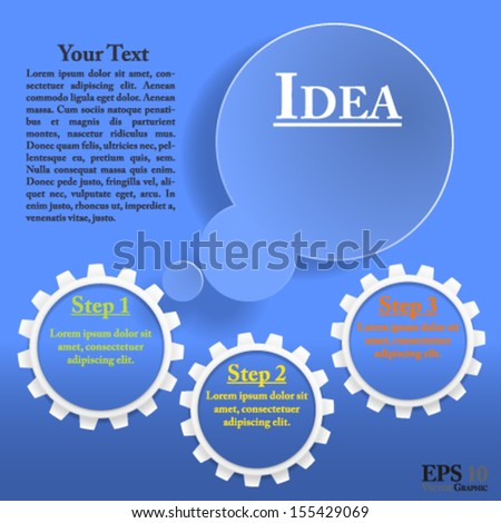 Thought bubble template. Well organized eps 10 document with descriptive layer names for quick and easy modifications - stock vector