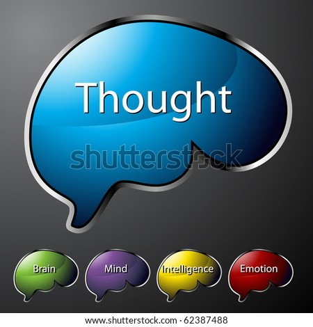 Thought Buttons - stock vector