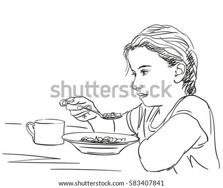 Lady Cook Pot Retro Clip Art Stock Vector 56756389 - Shutterstock