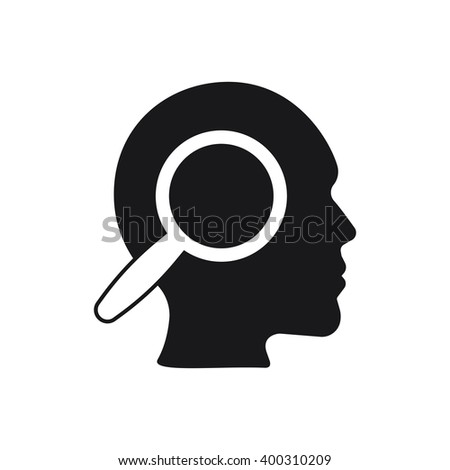thoughts icon on the white background - stock vector