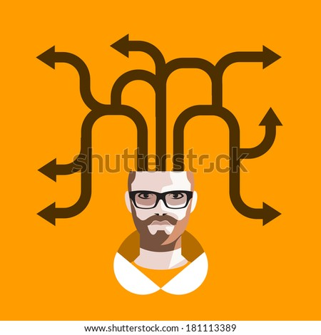 Thoughts. Vector format - stock vector