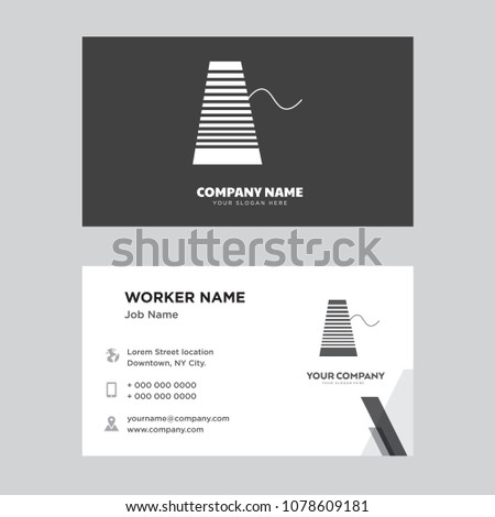 thread business card design template visiting stock vector royalty