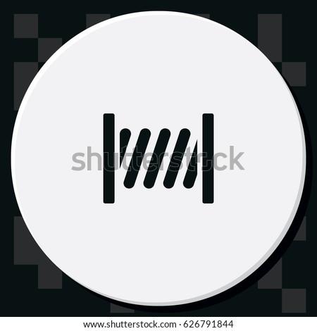 Thread Cable Spool Vector Icon Stock Vector 626791844 - Shutterstock