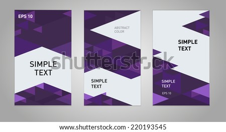 Three abstract business banner backgrounds vector eps10 - stock vector
