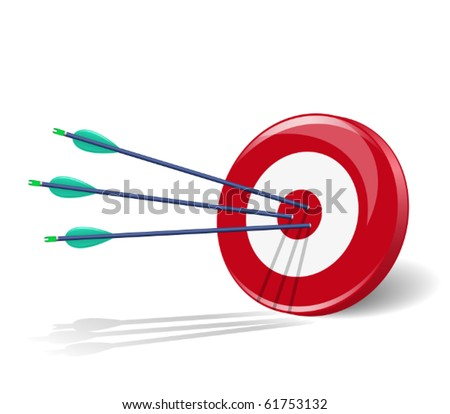 Three arrows in the center of target