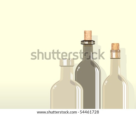 three bottles against a cream colored background