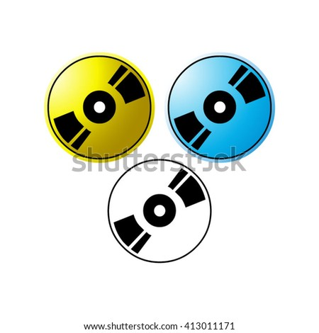 three CD ROM icons vector illustration - stock vector