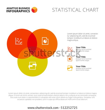 Three section venn diagram stock vector 366550001 shutterstock three circle venn diagram slide template ccuart Gallery