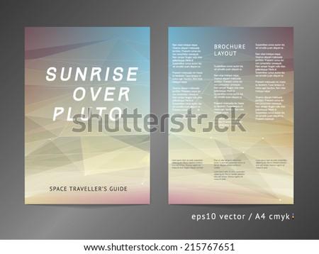 threecolumn double sided vector catalog leaflet stock vector