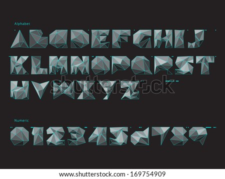 Three-dimension Font - stock vector