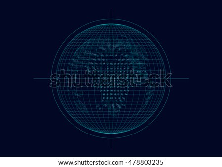 Three-dimensional abstract vector planet,meaning globalization, internationalization