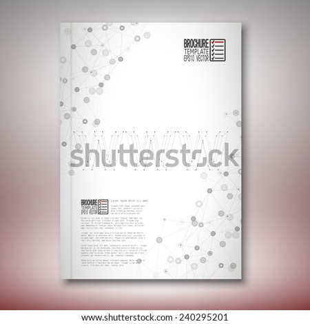 Three dimensional mesh stylish word www. Brochure, flyer or report for business, template vector. - stock vector