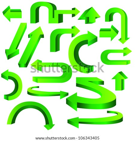 three dimentionals arrow - stock vector