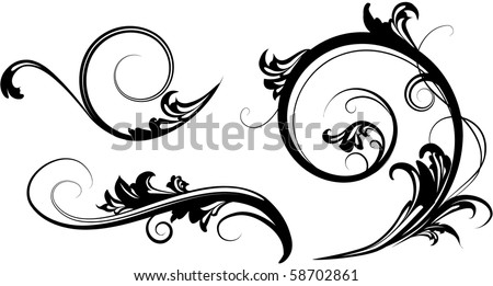 Three elements of ornament - stock vector