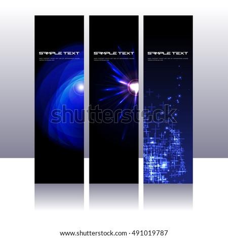 Three futuristic design template bunting stock vector 491019787 three futuristic design template bunting maxwellsz