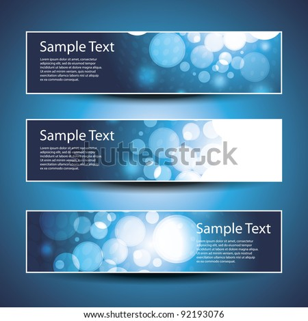 Three Header Designs - stock vector