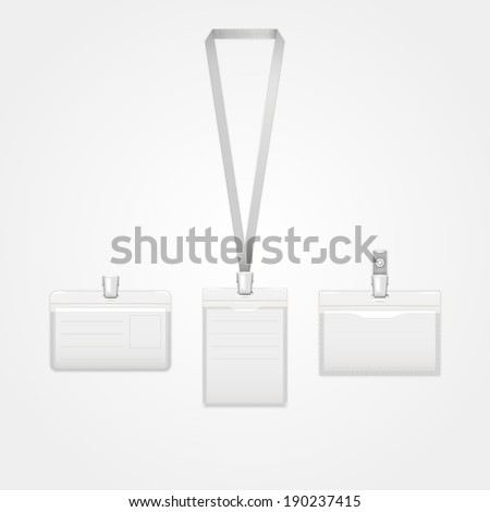 Three identification cards.Vector illustration.