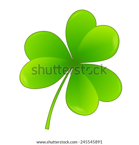 Three leaf clover. Vector illustration for St. Patrick's day  - stock vector