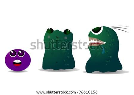 Three little monsters - stock vector
