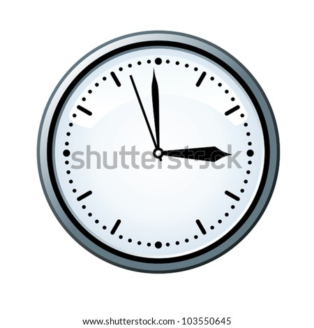 Three o�´clock. - stock vector