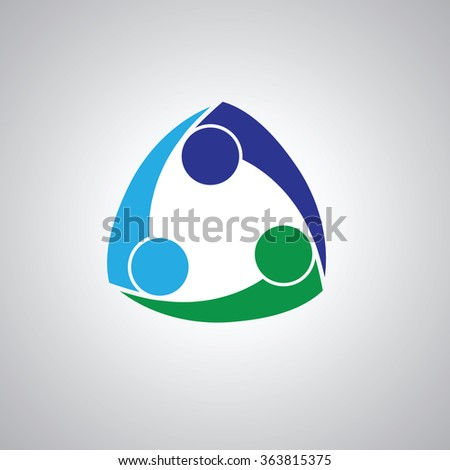 three people icon. people friends logo concept vector icon. this icon also represents friendship, partnership cooperation unity, - stock vector