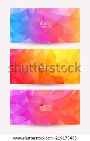 Three shiny bright abstract banners. - stock vector