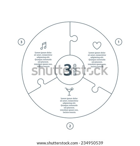 puzzle pieces circle stock images  royalty