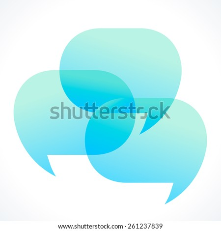 Three speech bubbles vector illustration - stock vector