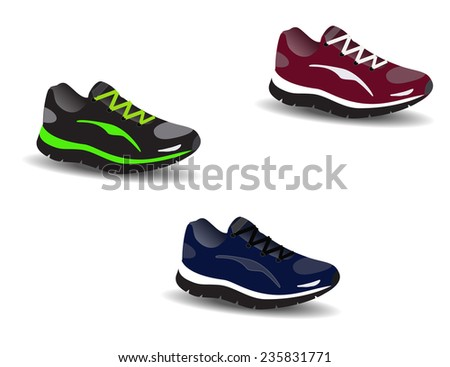 Three sport shoes