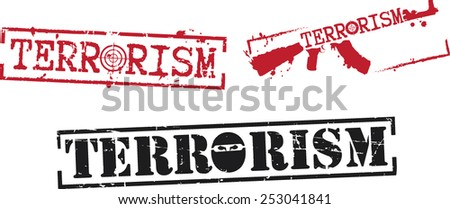 Three stamps 'Terrorism'