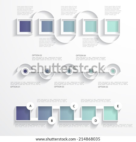 Three templates for your presentation - stock vector