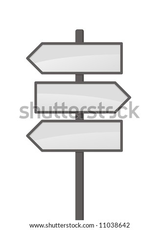 Three vector arrows on white background