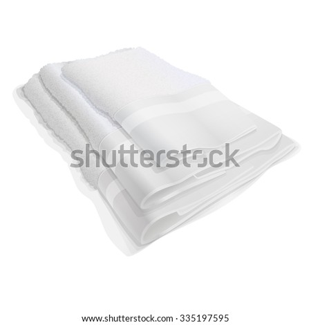three white terry towels