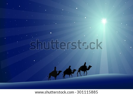 Three Wise mans - stock vector