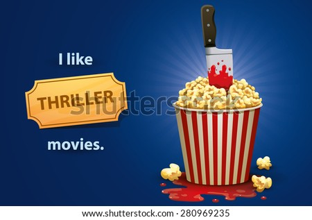 Thriller movies, vector - stock vector
