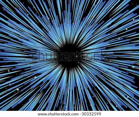 Thru the universe vector background for design use - stock vector